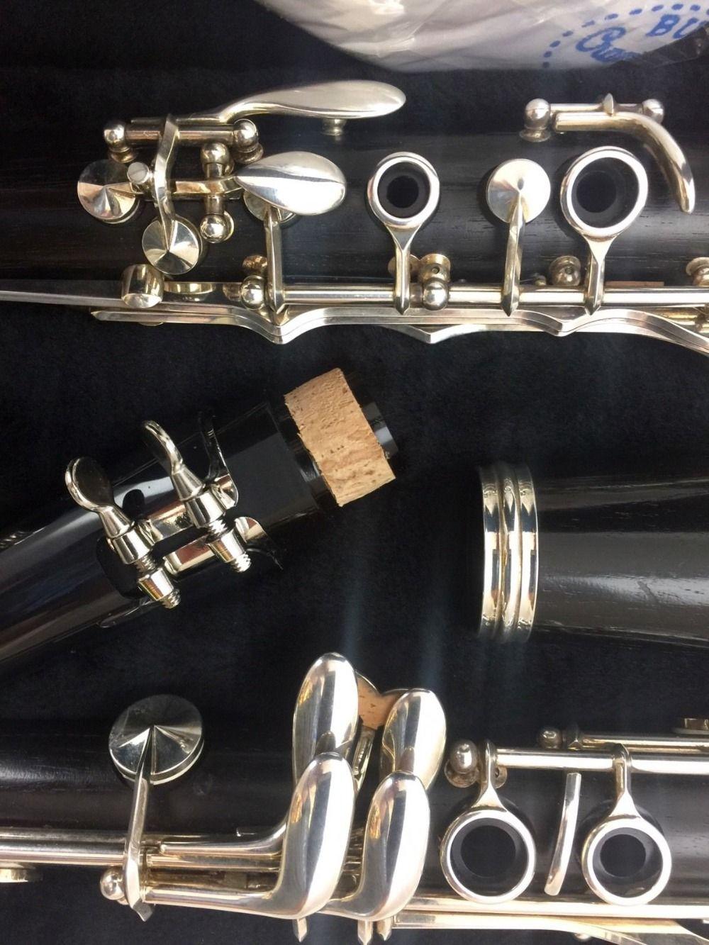 BUFFET E11 كلارينيت مع ملحقاتها لسان الحال 17 مفتاح لهجة ب ب خشب الصندل خشب الأبنوس / الباكليت المهنية المتوسطة آلات النفخ الطالب نموذج