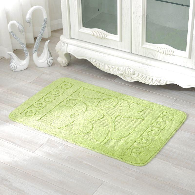 3d Leaves Pattern Bathroom Mats Carpets Bath Rug Anti Slip Floor
