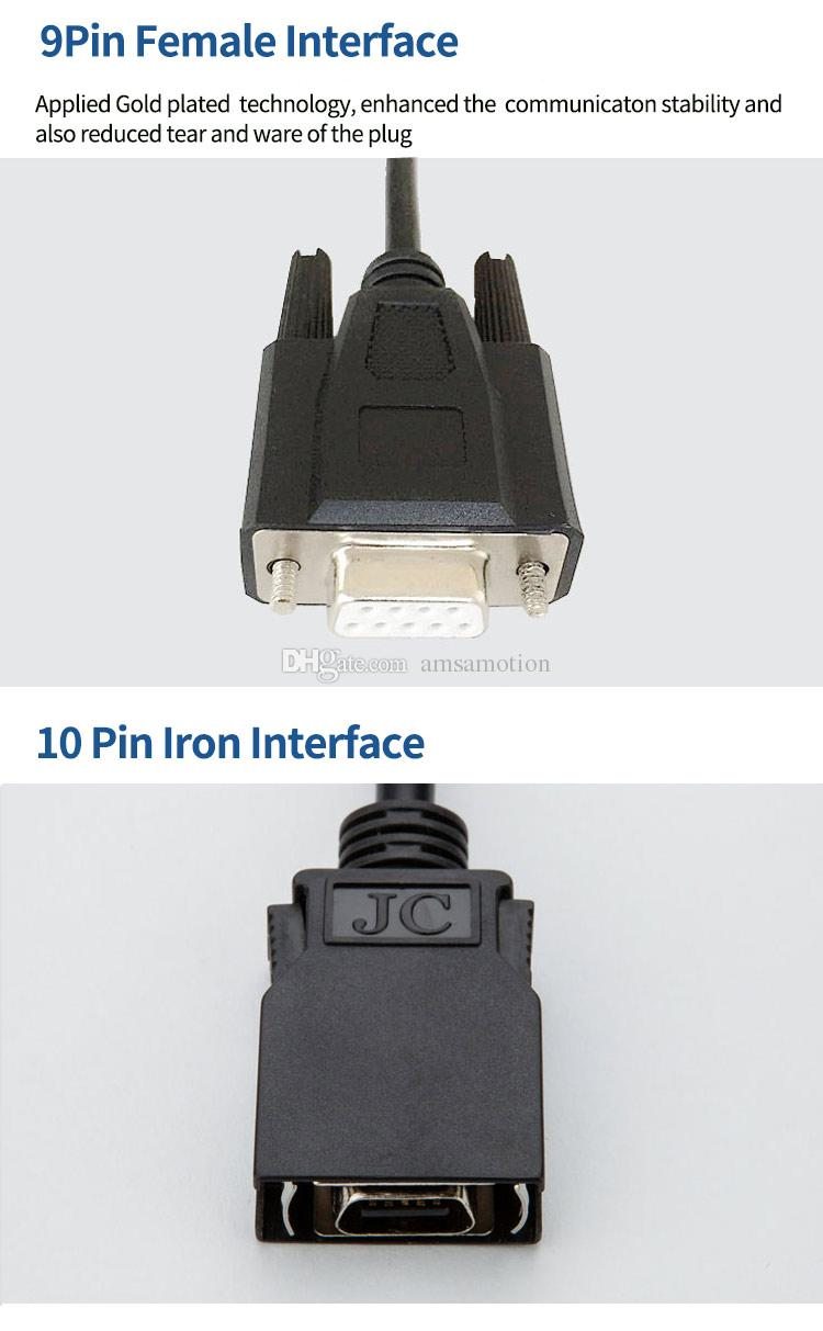 CS1W-CN226 Kabloları Uygun Omron CS CJ CQM1H CPM2C Serisi PLC Programlama Kablosu RS232