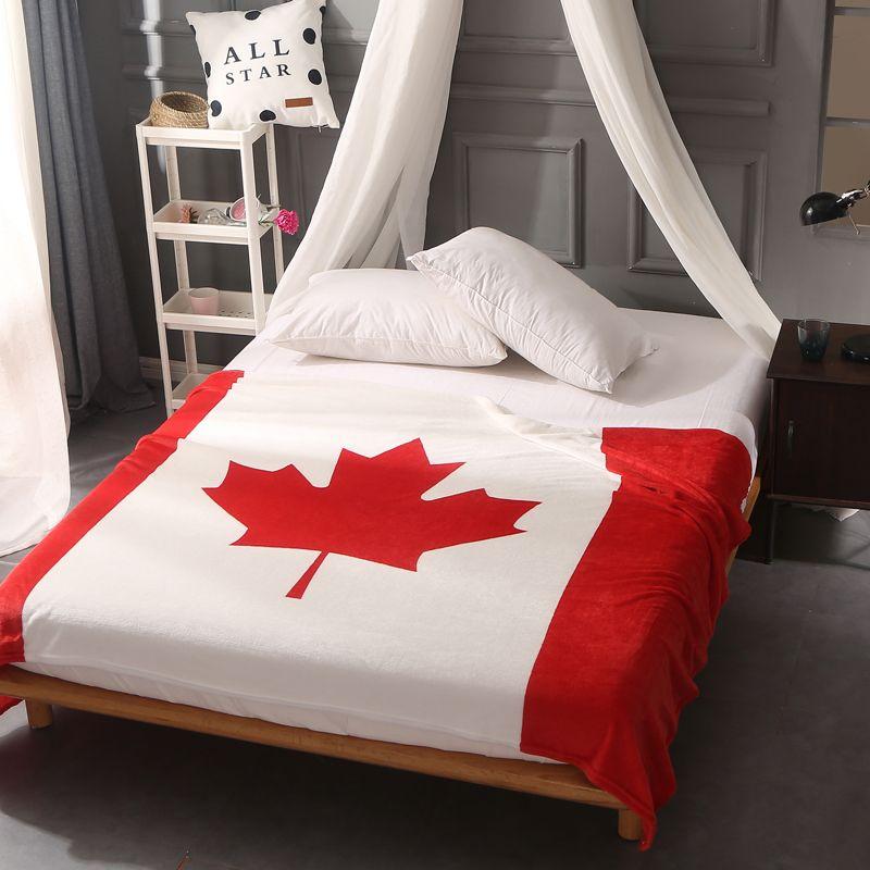 British FlagAmerican Flag Canada Multifunction Blankets Soft Fleece Adorable Plush Throw Blanket Canada
