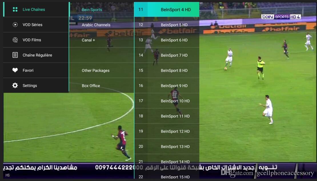 1 anno QHDTV Sport Italia Regno Unito Germania 1300+ Europa IPTV Arabo Iptv Canali Streaming IPTV Account Apk Work su Android smart tv