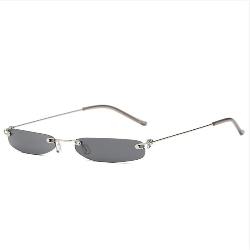 Compre Mincl   Sexy Requintado Quadrado Pequena Caixa De Óculos De Sol Das  Senhoras Cool Frameless Homens Tendência Óculos De Sol Óculos De Filme De  Moda ... e791700e4f