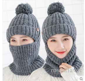 c7bed958121 New Fashion Protect Ears Thick Warm Knitted Hat Female Cycling Wind Ear Cap  Winter Hats For Women Hat Colors Red Gray Hats Bucket Hats From  Rossaflavor