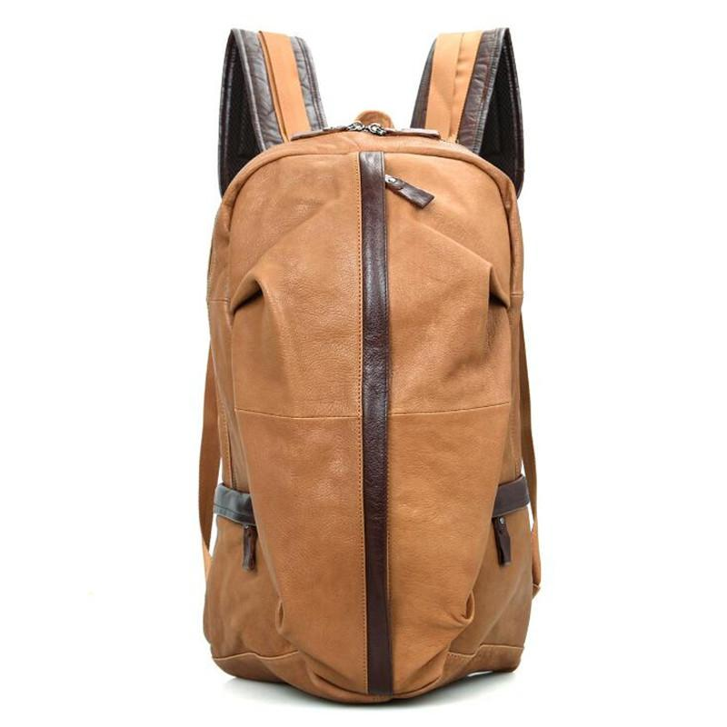 Genuine Leather Men Backpack For High Quality Male Backpacks Luggage   Men S  Travel Bags Male Large Capacity Bag Book Bags Herschel Backpacks From  Gor2doe, ... 74bd15467f