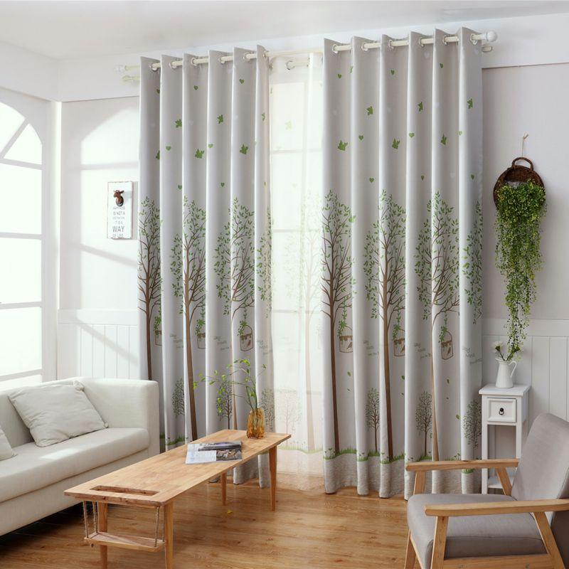 2018 Print Bird Window Curtain American Rustic Style Curtains For Living  Room Birds Printed Drapes Home Textile Curtains Cheap Curtains 2018 Print  Bird ...