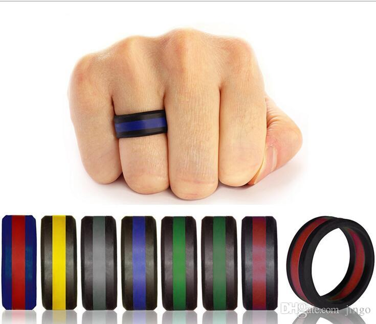 Silicon Wedding Bands.Silicone Wedding Ring Men Randomly Color Flexible Silicone Ring Band Wedding Ring For Mens Multicolor Comfortable Design Mens Gift