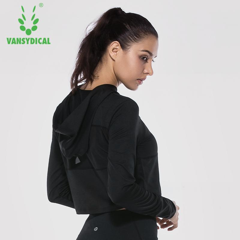 Compre Vansydical Mujeres Chaqueta Deportes Running Yoga Ropa Deportiva  Fitness Ejercicio Gimnasio Sexy Jacket Run Ropa Tops De Manga Larga A   24.83 Del ... 50ab4a77d4632