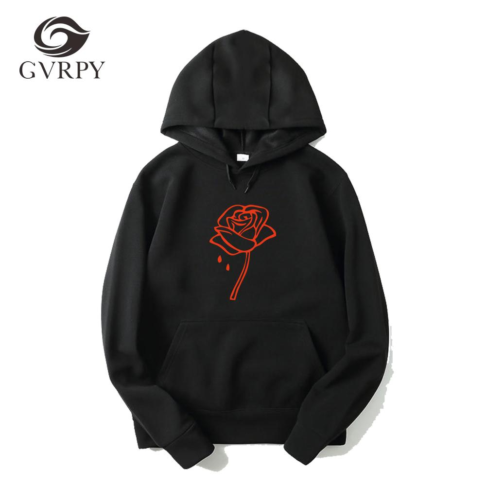 31925161ea5 Fashion Autumn Winter Long Sleeves Hoodies Men Women Sweatshirts Rose  flower Printed Harajuku Elegant Hoodies Causal Tops Blouse