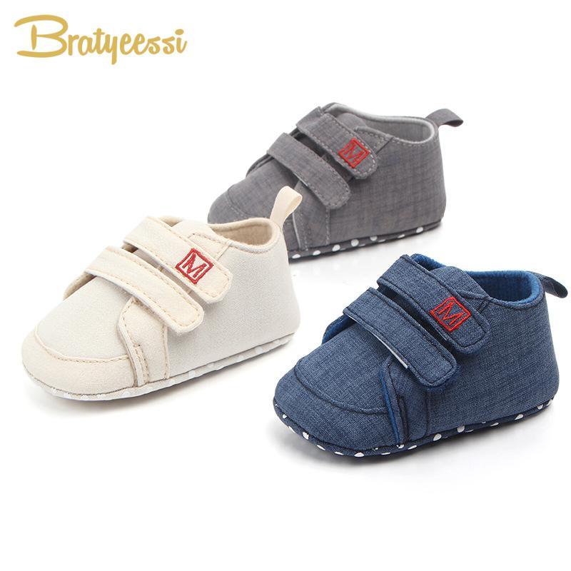 f51441dc6 Compre Novo Algodão Sapatos De Bebê Não Deslizamento Bebê Menino Sapatos  Primeiros Caminhantes Primavera Outono Criança Crianças Calçado Prewalker 1  Par De ...
