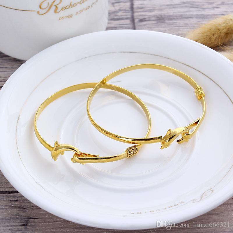 / cadeau hot cadeau prix gold charme bracelet bracelet fine noble maillage dauphin bracelet bijoux de mode 1834
