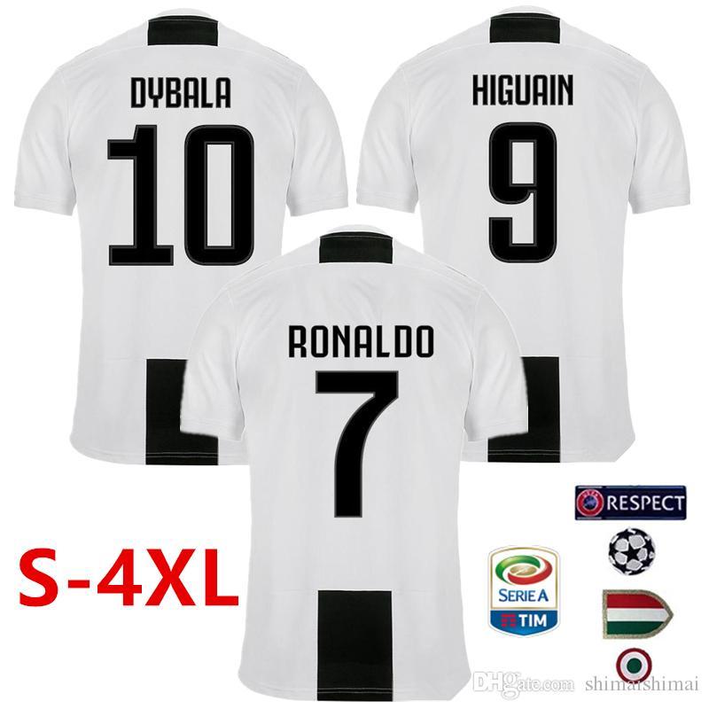 8091f0330c XXXXL XXXL XXL XL 4XL 3XL 2XL XL RONALDO Soccer Jersey JUVENTUS 2018 ...