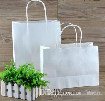 c2f08a294fdd Wholesale ROCOHANTI White Kraft Paper Bags Top Quality Paper Shopping Bags  Custom Printed Your LOGO Recycled Bags Designer Handbags Wholesale From  Minterm