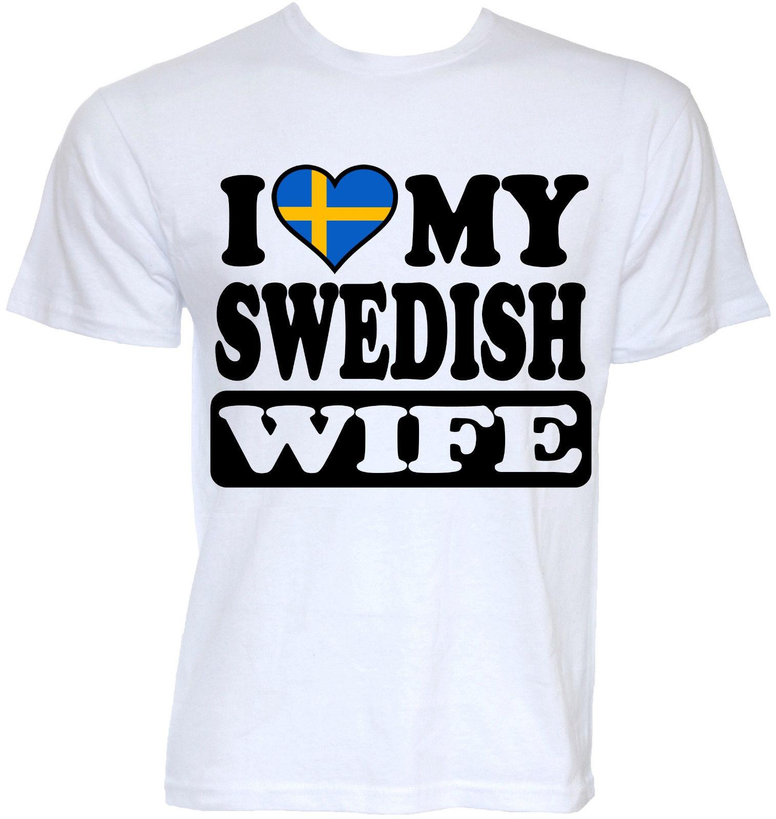 fbdfea64 Mens Funny Cool Novelty Swedish Wife Sweden Flag Joke Rude Slogan Gifts T  Shirts T Shirt Tops Summer Cool Funny T Shirt Graphic Tee Shirts T Shirt  Sayings ...