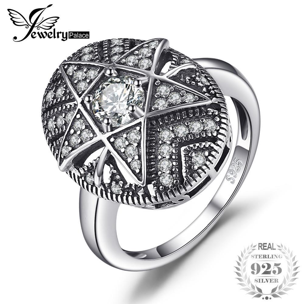 82fb0058f868 Compre Jewelrypalace Star 1.0ct Anillo De Filigrana De Circonio Cúbico 925  Anillos De Plata Esterlina Para Las Mujeres Regalo De La Joyería De Moda  Para La ...
