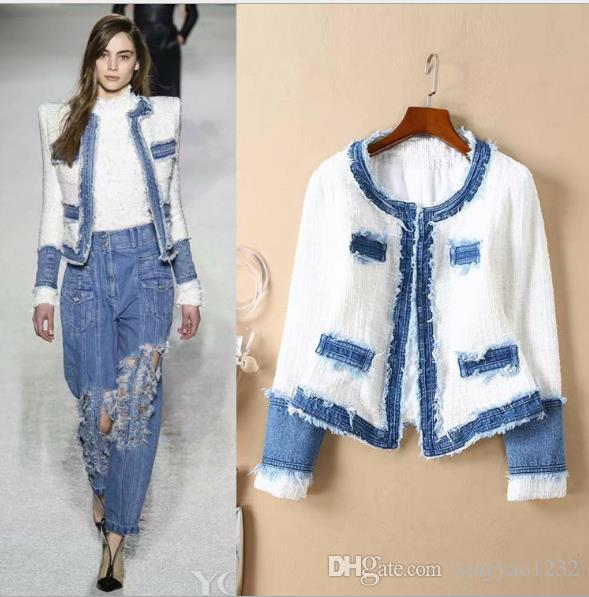 e5c475aa40 109 Free Shipping 2018 Autumn Runway Women Coats Fashion Crew Neck Long  Sleeve Luxury Prom Womens Clothes AS