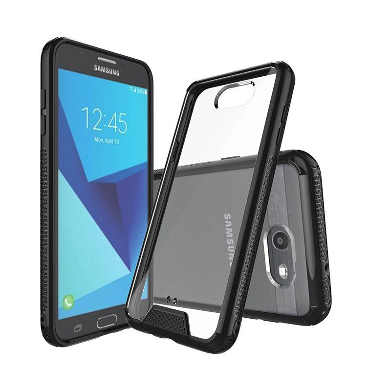 Ultra-clear Slim Shock-proof Bumper Anti-scratch TPU Frame Acrylic Mobile Phone Case for Samsung J7 2017 J3 Prime J2 Prime J5 2016 J710 J310