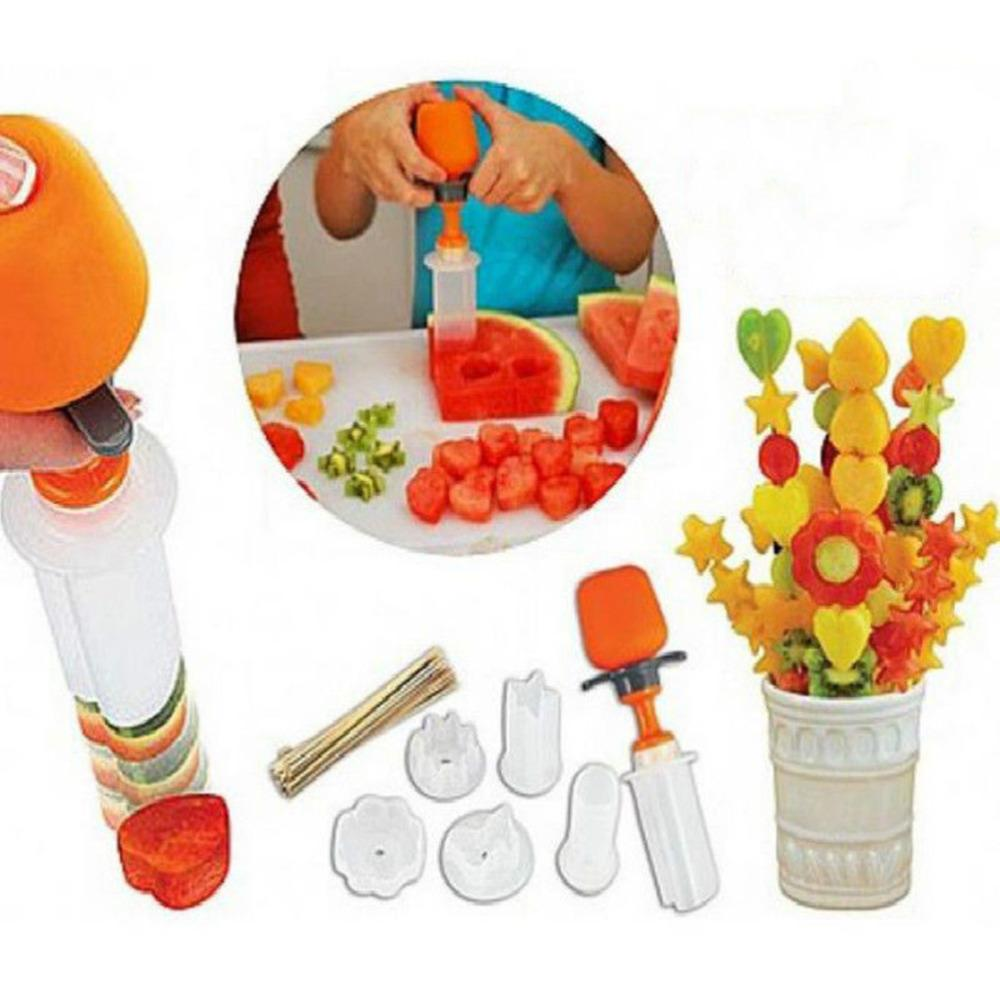 30Lots кухня фрукты инструменты пластиковые овощной фрукты форма резак Slicer веганской еды декоратор Снэк торт чайник игра