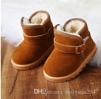 d50350d925be Children Boots Boys 1 2 3 Year Old Winter Girl Short Boots With Cotton Wool  Female Baby Shoes Children Warm Boots Black Boots For Kids Girls Little Girl  ...