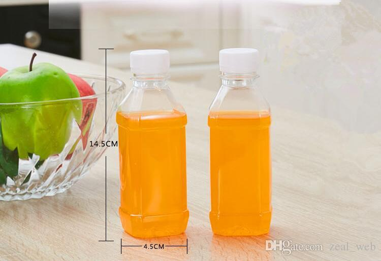 애완 동물 주스 병 250ml 포장 병 두꺼운 나사 캡 음료 병 우유 커피 물 배수 150 개 플라스틱