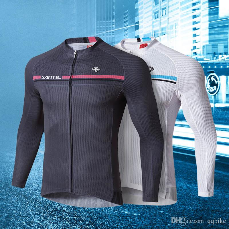 2019 SANTIC Men Long Sleeve Cycling Jerseys Comfortable Sun Protective  Quick Dry Bicycle Bike Jacket Outdoor Sportswear Vintage MTB Zipper Jersey  From ... adc568670
