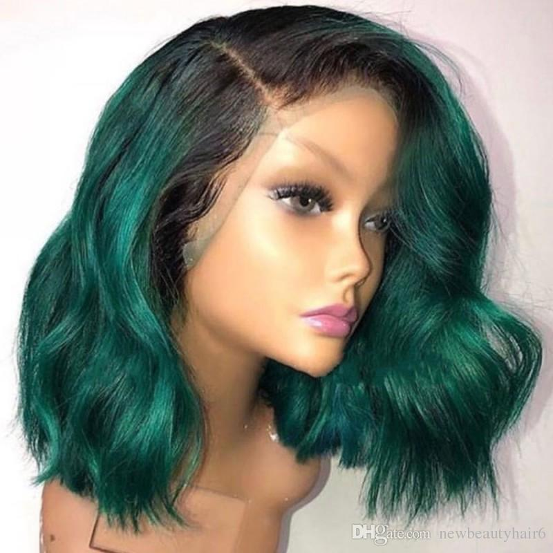 Fashion Style Wavy African American Bob Wigs Short Shoulder Length