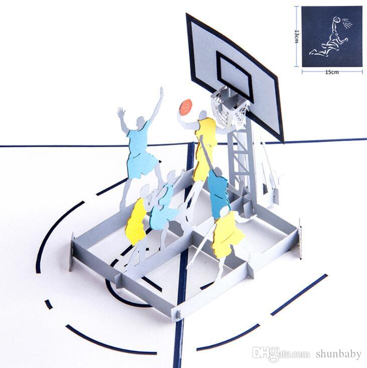 3d pop up play basketball greeting card laser cutting with envelope 3d pop up play basketball greeting card laser cutting with envelope sports postcard hollow carved handmade kirigami gifts gift credit cards trade gift cards m4hsunfo