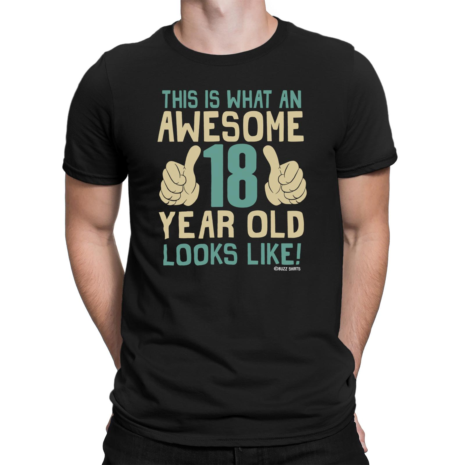 Mens 18th To 50th BIRTHDAY TShirts Awesome 18 50 Years Old Looks