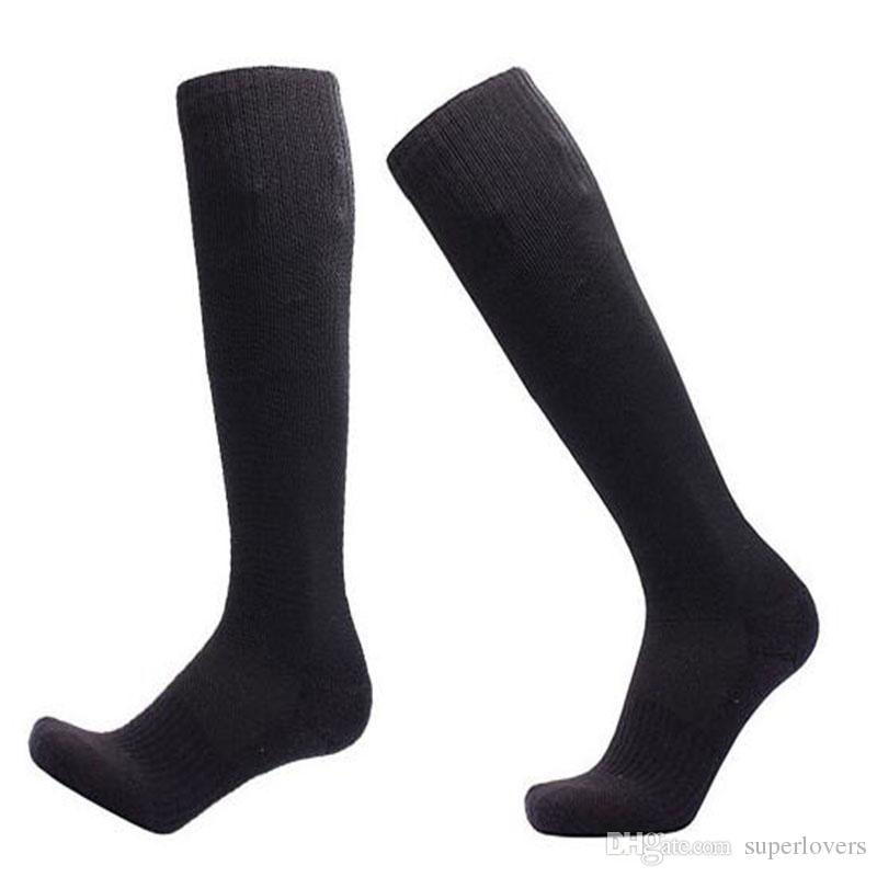 Professional Soccer Solid Socks Long Knee Stocking For Running Athletic Sport Socks Compression Thermal Winter Socks