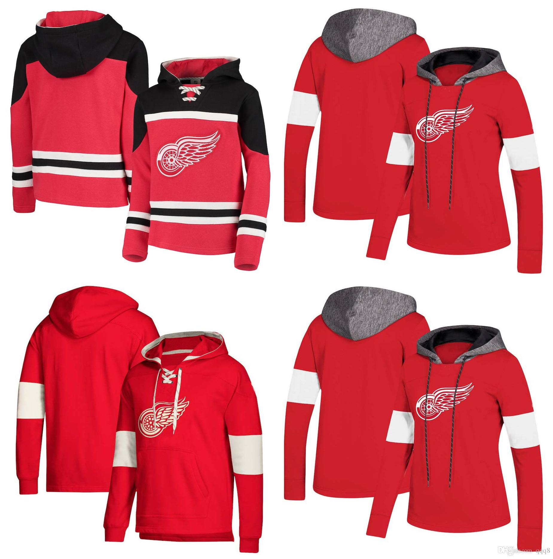 9bb9e229b9f 2019 Detroit Red Wings Hoodie Jersey Anthony Mantha Dylan Larkin Henrik  Zetterberg Tomas Tatar Abdelkader Witkowski Helm Stitched Hockey Pullover  From Qqq8