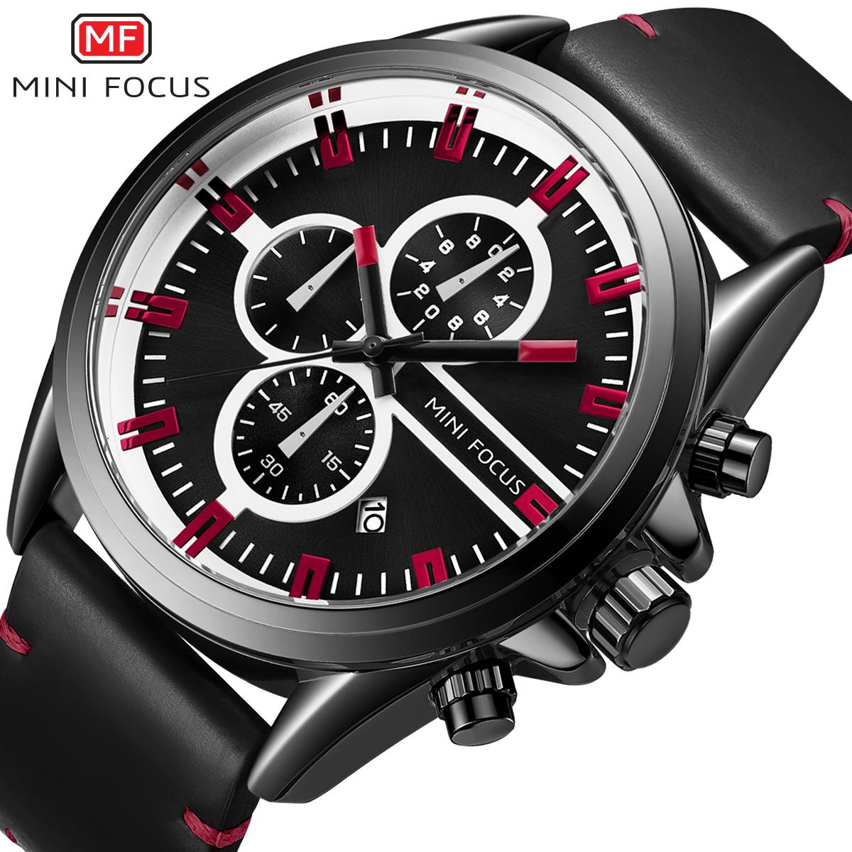 31146c2ddc0 Compre MINI FOCO Único Relógio De Quartzo Moda Homens Pulseira De Couro  Multifuncional Mens Relógios Contraste Cor Roxo Índice Top Design Da Marca  De ...