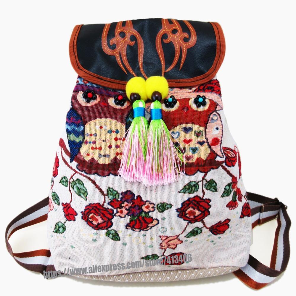 ... Tribal Vintage Hmong Thai Indiano Ricamo Etnico Boho Boho Zaino Boho  Hippie Etnico Borsa Zaino Borsa L Taglia St 016 A  44.63 Dal Cutemerry  a72fc2fd499