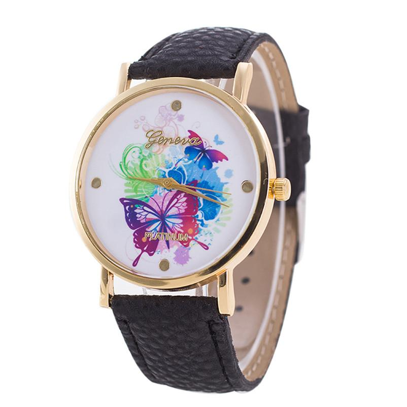 Fashion Women Bracelet Watch Brand Neutral Butterfly Pattern