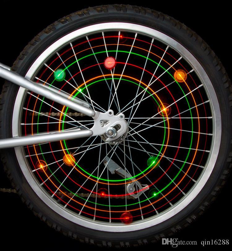 2018 패션 방수 자전거 바퀴 빛 자전거에 대 한 자전거에 대 한 led가 장식 자전거 바퀴 스포크 라이트