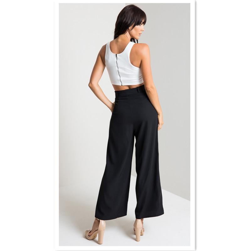 Women Fashion Mid Waist Loose Casual Wide Leg Pants Ankle-Length Pants Palazzo Trousers Bow Sashes Boho Bohemian Style Straight Pants