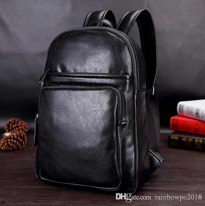 69cc8d7bddfe Factory Outlet Brand Bag Simple Three Dimensional Bag Men Backpack Leisure  Leather Student Bags Leisure Outdoor Travel Men Backpack Cool Backpacks  Leather ...