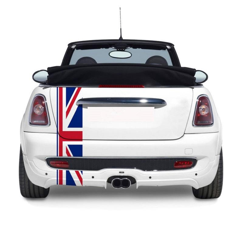 2019 Union Jack Car Rear Trunk Decor Decal Tail Stickers For Mini