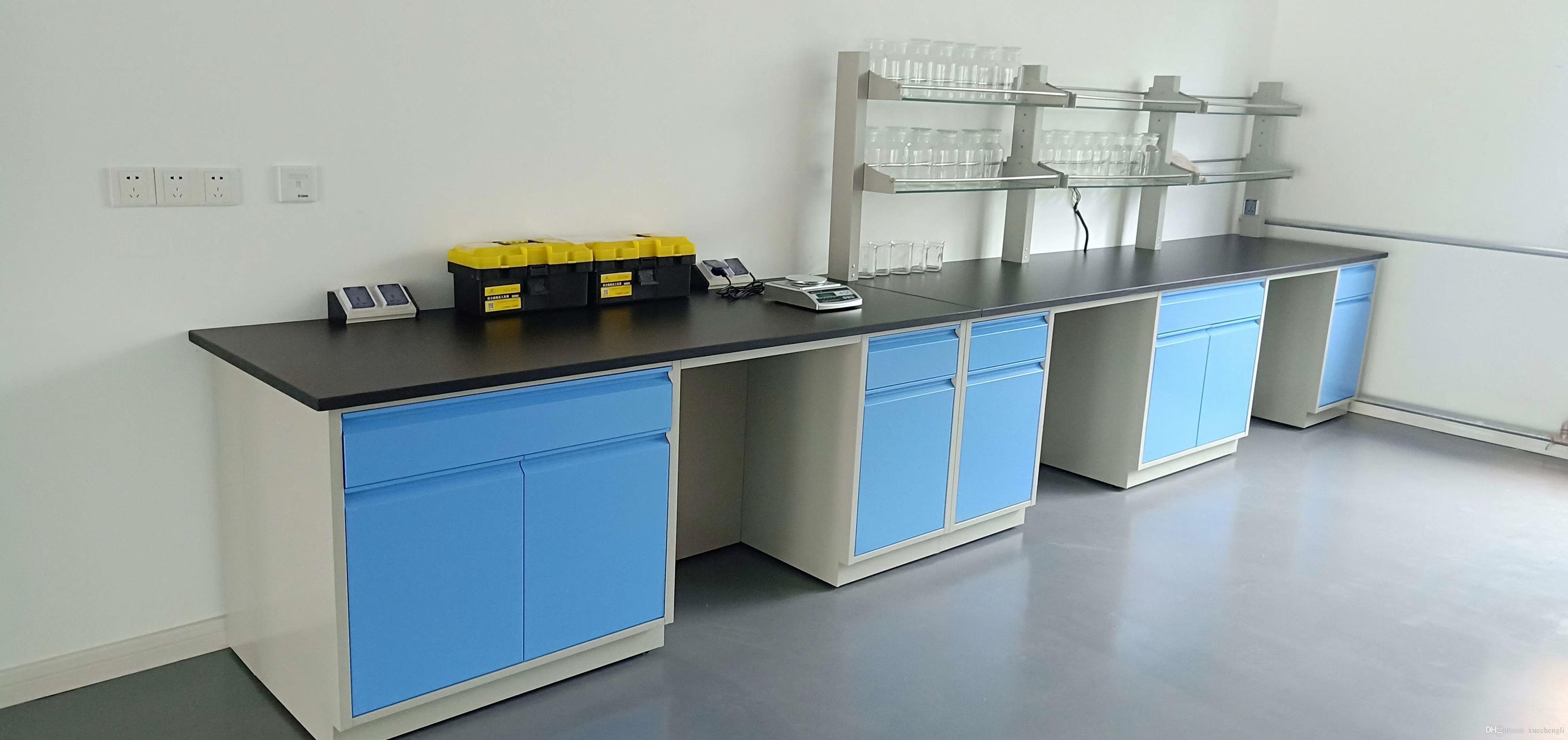 2019 Direct Factory Price 7200mm Long Steel Lab Table Side