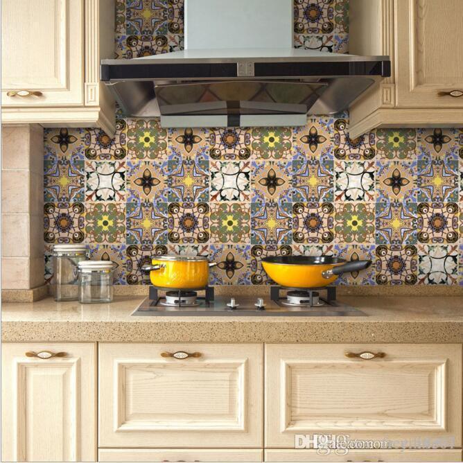 20cmx32m New Portuguese Floor Tile Stickers Star Dinner Backsplash
