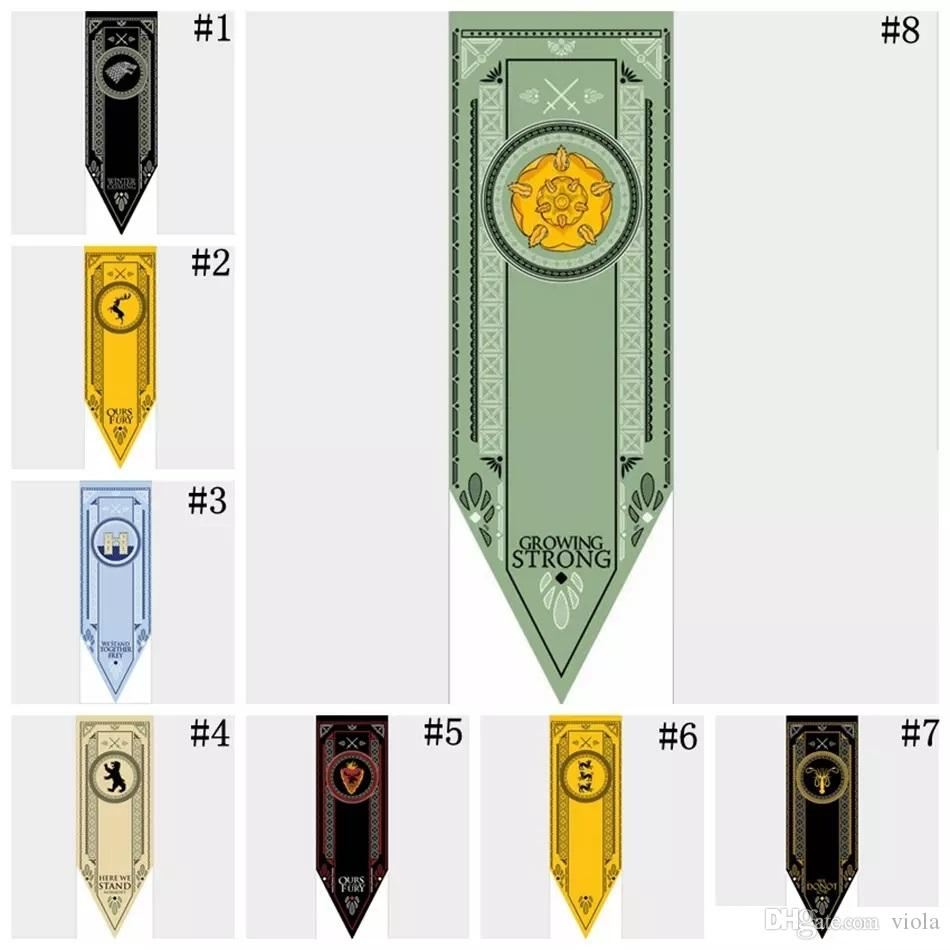 2018 newest fashion game of thrones flages 48 150cm house stark