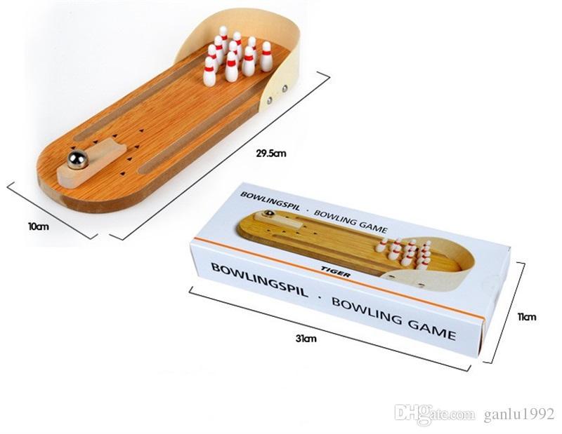 Mini Holz Desktop Bowling Spiel Kinder Spielzeug Geschenk Eltern Interaktive Puzzle Schreibtisch Ball Brettspiele Hohe Qualität 9 02cw C