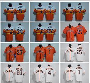 f98b19835df Houston Astros Baseball Jerseys 27 Jose Altuve 4  George Springer 1 ...