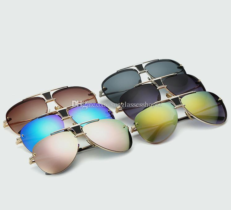 3e69f7e1564 Men s Sunglasses Newest Vintage Oversized Frame Goggle Summer Style ...