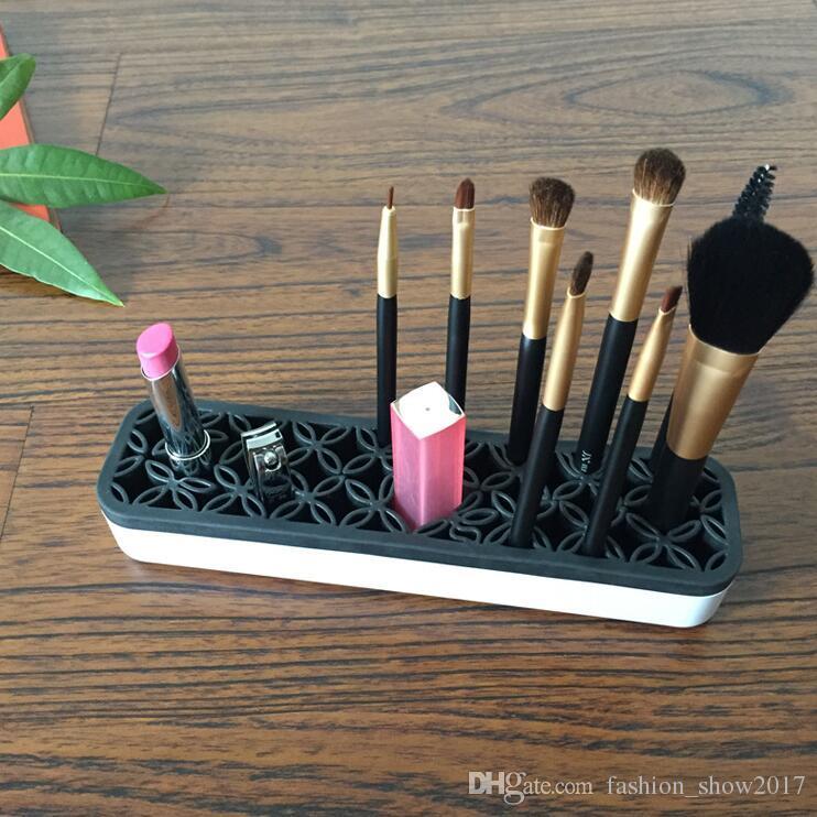 Silicone Makeup Brush Organizer Storage Box Lipstick Toothbrush Pencil Cosmetic Brush Holder Stand Multifunctional Make Up Tool