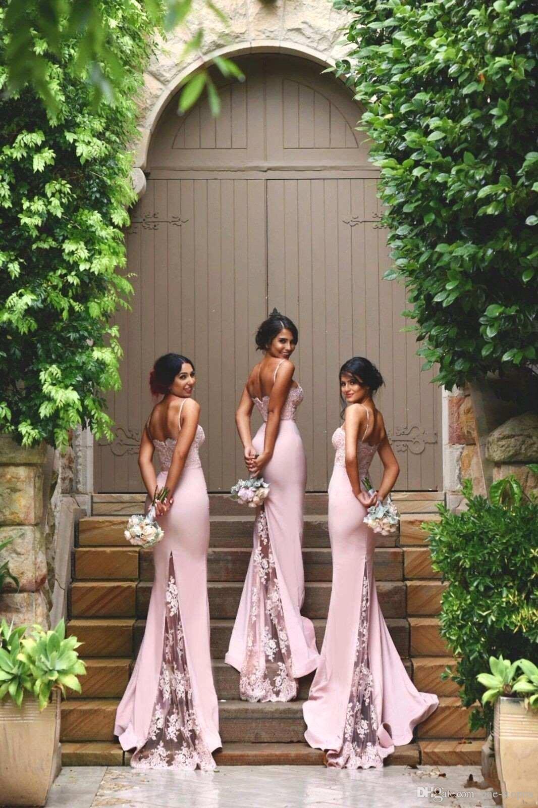 Seksi Spagetti Sapanlar Dantel Mermaid Gelinlik Modelleri Sevgiliye Dantel Aplike Kat Uzunluk Düğün Konuk Elbiseleri