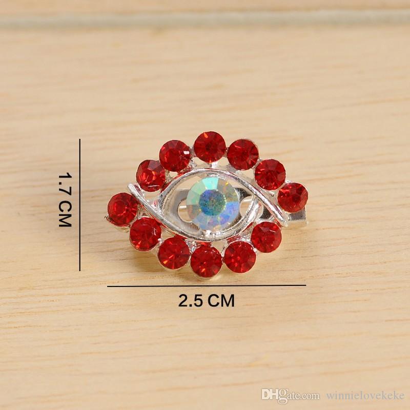 /eye designal Women Scarf safety Pin New Hijab Pins with colorful rhinestone