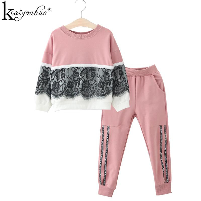f18c45204121 2019 Girls Clothes Sets 2018 Spring Kids Sport Suits Girls Clothing ...