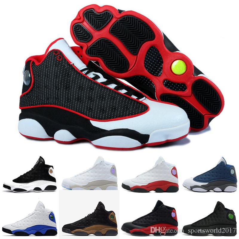 75460536a5d911 Acheter Retro Air Jordan 13 AJ13 Nike Meilleure Qualité Basket Ball  Chaussures Sneaker Pour Les Hommes 13 S Noir Phantom Bred HE GOT GAME Mode  Hommes Sports ...
