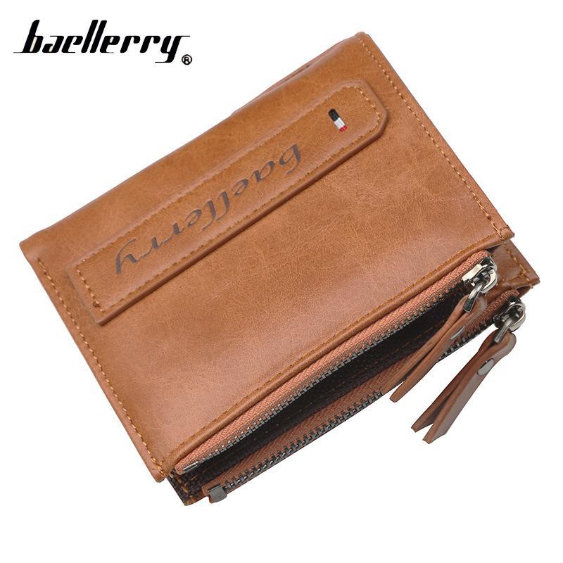 84e9ec2c1139fa Baellerry Zipper For Men Wallet Male Purse Coin Baellery Money Bag ...
