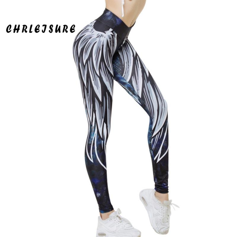 34fafb1860 2019 CHRLEISURE Printing Leggings Women 2018 Polyester Europe And The  United States Jegging Angel Wing Workout Push Up Female Legging From  Feiyancao, ...