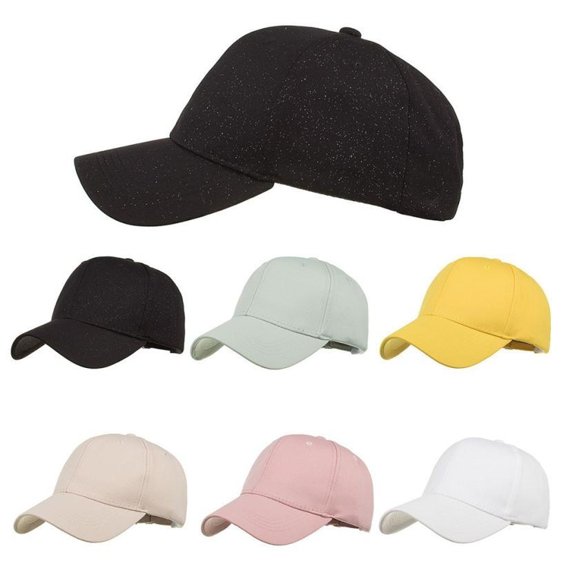 5272f2e55560 Snowshine4   4001 Drop Shipping 2018 Fashion Women Hat Men Caps Adjustable  Solid Cap ful Baseball Hat Shade Summer Caps Fitted Cap Baseball Caps For  Men ...